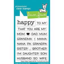 Lawn Fawn Clear Stamps - Happy_Happy_Happy ADD-ON