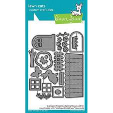 Lawn Cuts - Scalloped Treat Box Spring House Add-On - DIES