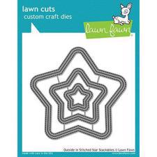 Lawn Cuts - Outside In Stitched Star - DIES