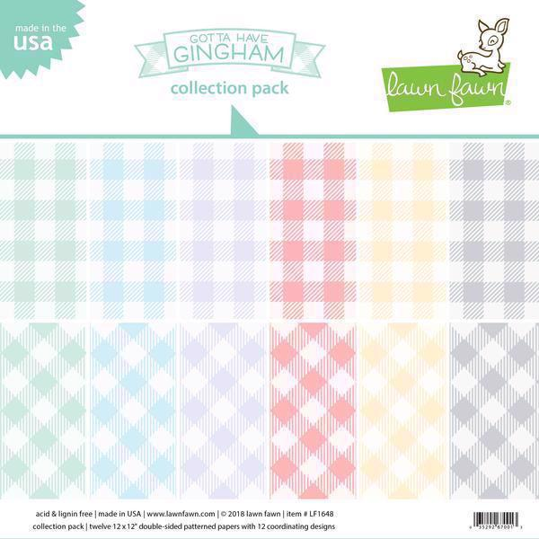 "Lawn Fawn Collection Pack 12x12"" - Gotta Have Gingham"