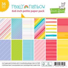 "Lawn Fawn Paper Pad 6x6"" - Really Rainbow"