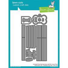 Lawn Cuts - Scalloped Treat Box Dog House Add-On - DIES