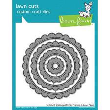 Lawn Cuts - Stitched Scallopped Circle Frames - DIES