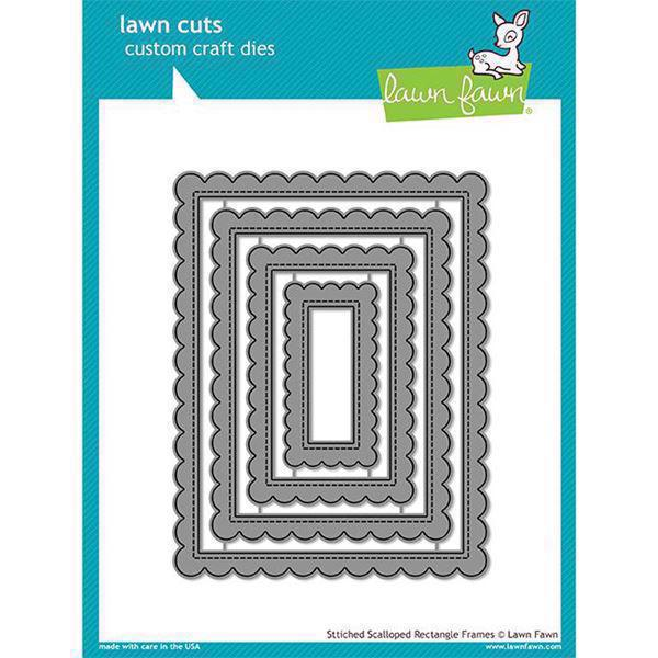 Lawn Cuts - Stitched Scallopped Rectangle Frames - DIES