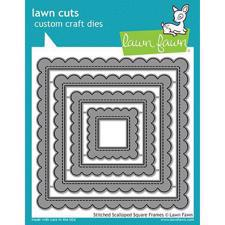 Lawn Cuts - Stitched Scallopped Square Frames - DIES