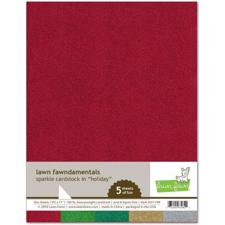 Lawn Fawn Sparkle Cardstock - Holiday Pack