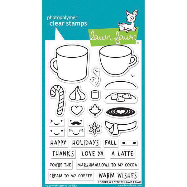Lawn Fawn Clear Stamps - Thanks a Latte