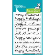 Lawn Fawn Clear Stamps - Winter Scripty Sentiments