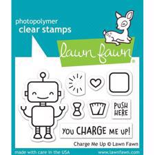 Lawn Fawn Clear Stamp - Charge Me Up (robot)
