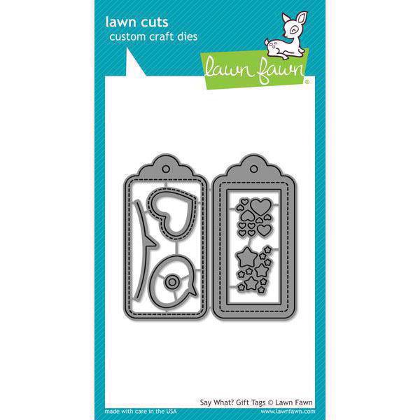Lawn Cuts - Say What? Gift Tags - DIES