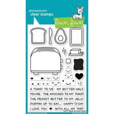 Lawn Fawn Clear Stamps - Let's Toast