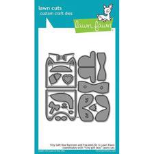 Lawn Cuts - Tiny Gift Box Raccoon/Fox Add-On - DIES