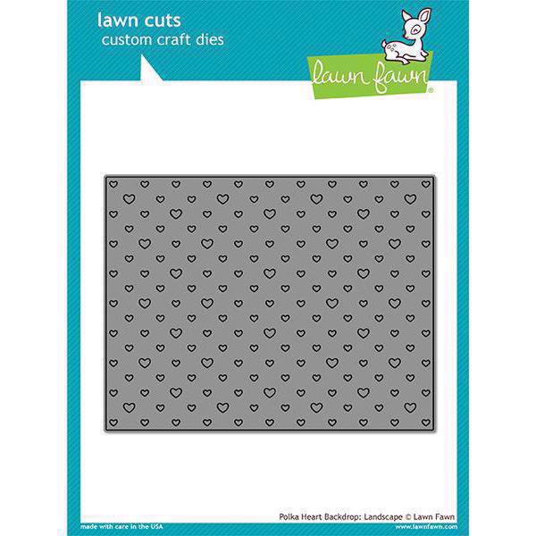 Lawn Cuts - Polka Heart Backdrop / Landscape - DIES