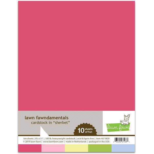 Lawn Fawn Cardstock - Sherbet Pack