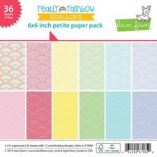 "Lawn Fawn Paper Pad 6x6"" - Really Rainbow Scallops"