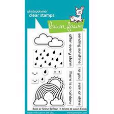Lawn Fawn Clear Stamp - Rain or Shine Before 'n Afters