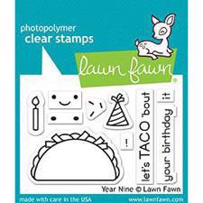 Lawn Fawn Clear Stamp - Year Nine (taco)