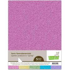 Lawn Fawn Sparkle Cardstock - Spring Pack