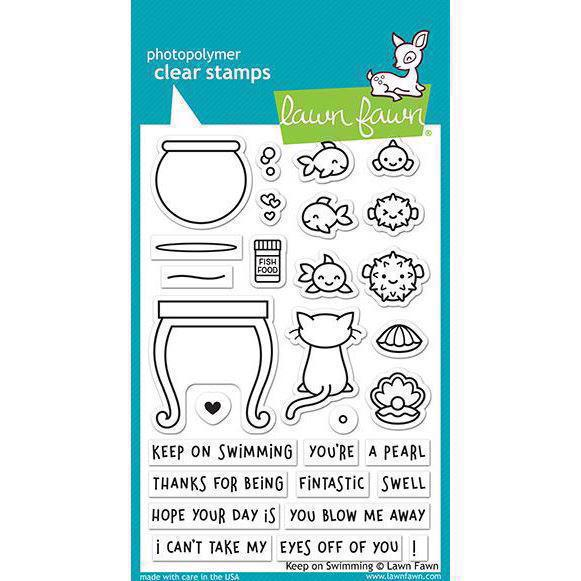 Lawn Fawn Clear Stamp - Keep on Swimming