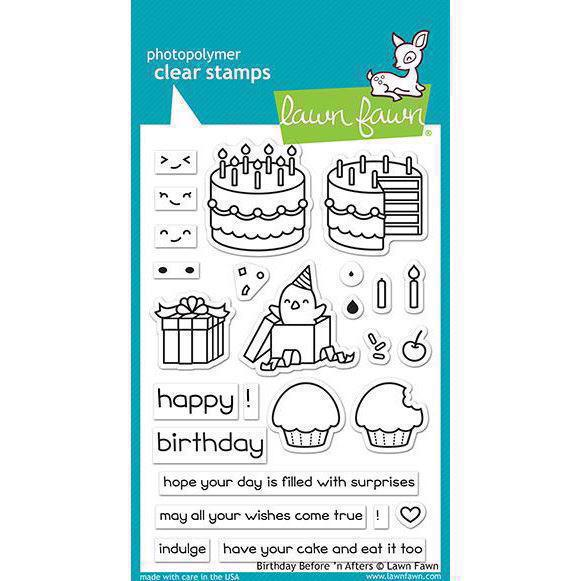 Lawn Fawn Clear Stamp - Birthday Before \'n Afters