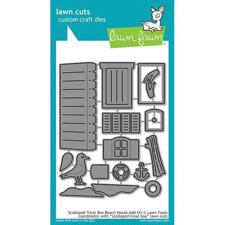 Lawn Cuts - Scalloped Treat Box Beach House Add-On - DIES