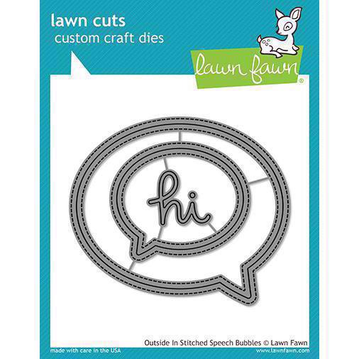 Lawn Cuts - Outside in Stitched Speech Bubbles - DIES