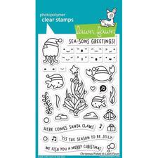 Lawn Fawn Clear Stamp - Christmas Fishes
