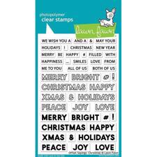 Lawn Fawn Clear Stamp - Offset Sayings: Christmas