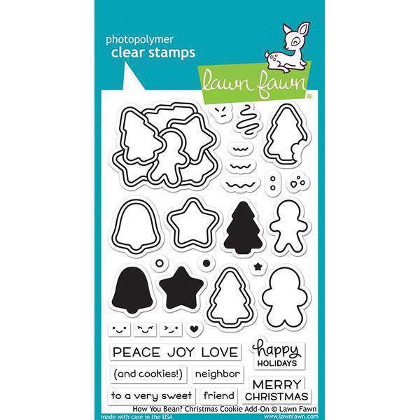 Lawn Fawn Clear Stamp - How You Bean? Christmas Cookie Add-On