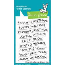 Lawn Fawn Clear Stamp - Winter Wavy Sayings