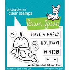 Lawn Fawn Clear Stamp - Winter Narwhal