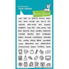 Lawn Fawn Clear Stamp - Plan on It: School