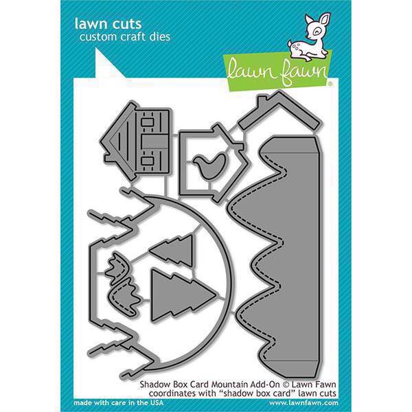 Lawn Cuts - Shadow Box Card Mountain Add-On - DIES
