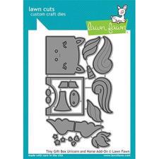 Lawn Cuts - Tiny Gift Box Unicorn and Horse Add-On - DIES