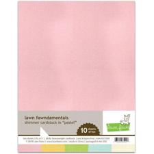Lawn Fawn SHIMMER Cardstock - Pastel (10 ark)