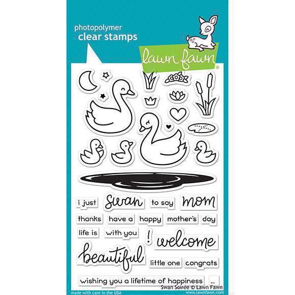 Lawn Fawn Clear Stamp - Swan Soiree