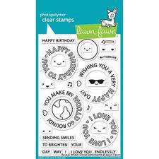 Lawn Fawn Clear Stamp - Reveal Wheel Circle Sentiments