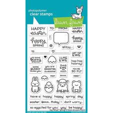 Lawn Fawn Clear Stamp - Say What? Spring Critters