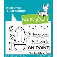 Lawn Fawn Clear Stamp - Year Ten (cactus)