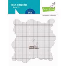 Lawn Fawn Clipping Stencils - Cloudy (cloud / sky)