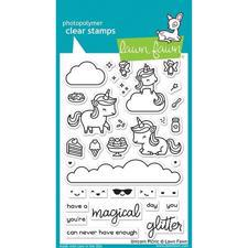 Lawn Fawn Clear Stamp - Unicorn Picnic