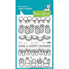 Lawn Fawn Clear Stamp - Simply Celebrate Summer