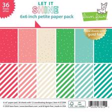 "Lawn Fawn Paper Pad 6x6"" - Let it Shine"