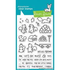 Lawn Fawn Clear Stamp - Let's Go Nuts