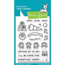 Lawn Fawn Clear Stamp - Car Critters Chritsmas Add-On