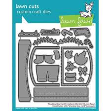 Lawn Cuts - Shadow Box Card Fireplace Add-On - DIES
