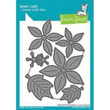 Lawn Cuts - Stitched Poinsettia - DIES