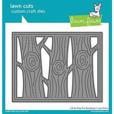 Lawn Cuts - Lift the Flap Tree Backdrop - DIES