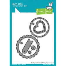 Lawn Cuts - Scalloped Circle Gift Tag - DIES