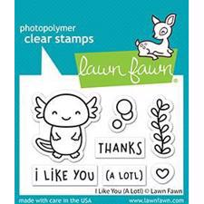 Lawn Fawn Clear Stamp - I LIke You (a Lotl)